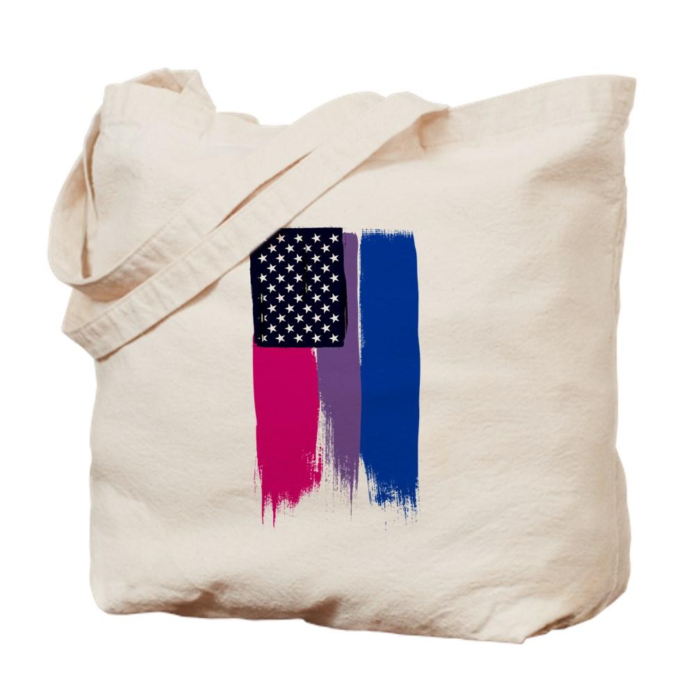 Bisexual Pride Stars and Stripes Flag Tote Bag