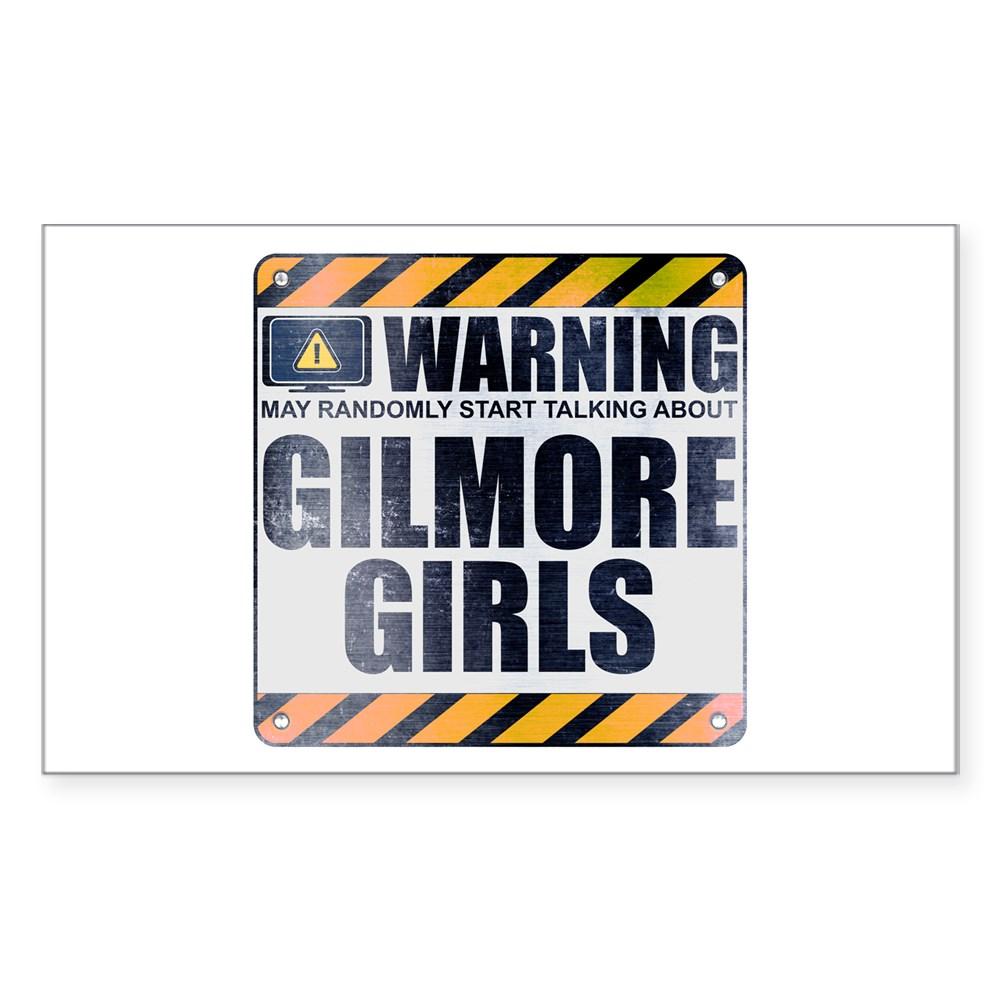 Warning: Gilmore Girls Rectangle Sticker