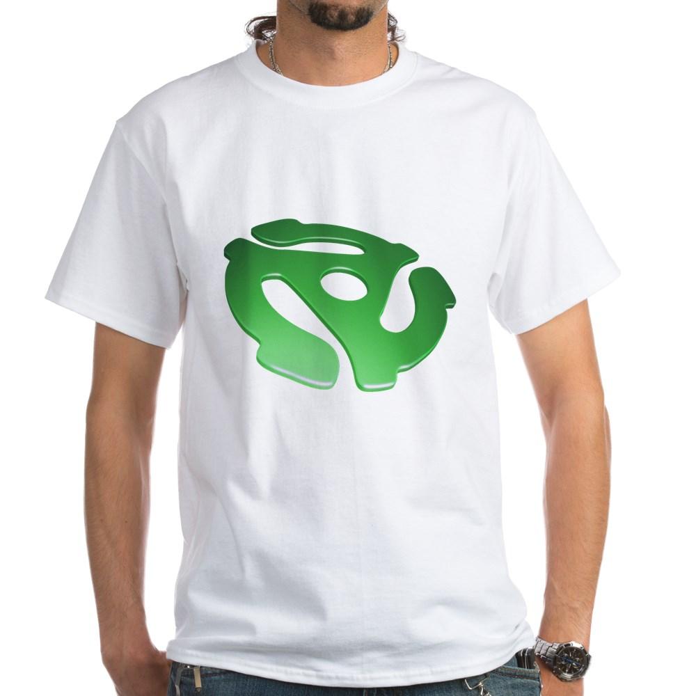 Green 3D 45 RPM Adapter White T-Shirt