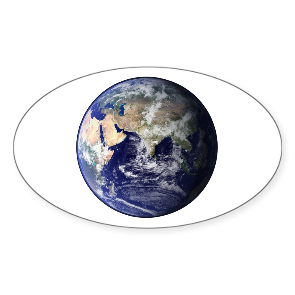 Eastern Earth from Space Oval Sticker