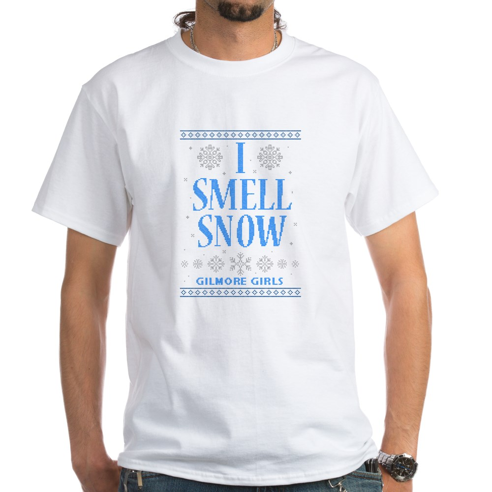I Smell Snow Ugly Christmas Sweater White T-Shirt