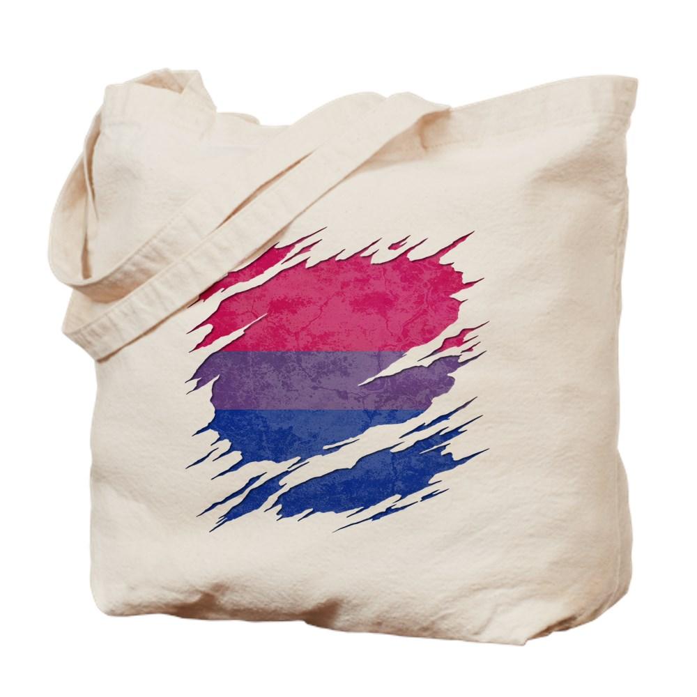 Bisexual Pride Flag Ripped Reveal Tote Bag