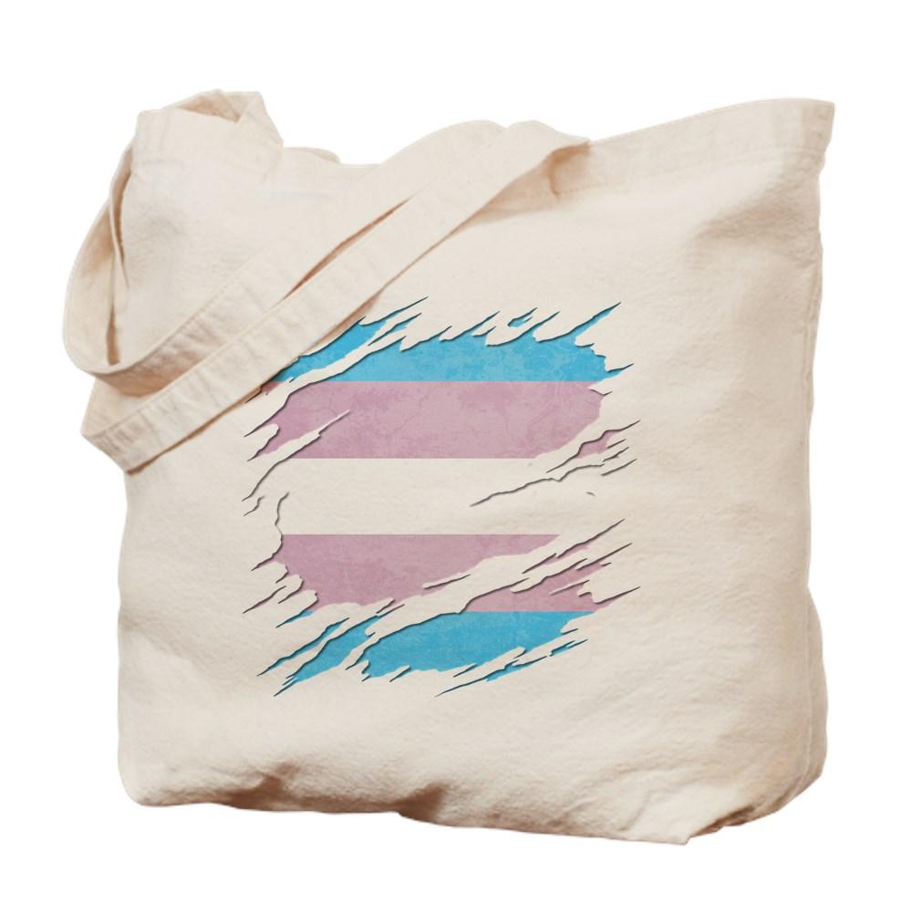 Transgender Pride Flag Ripped Tote Bag