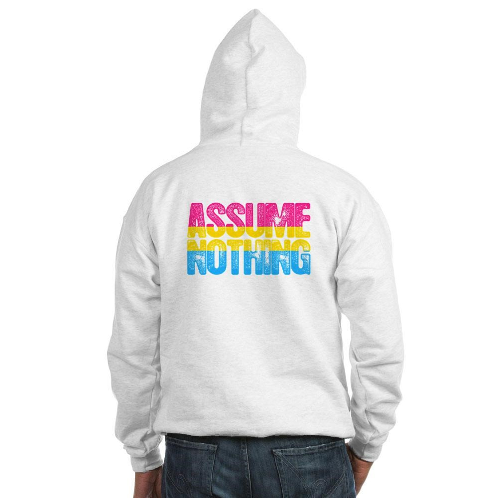 Assume Nothing Pansexual Pride Hooded Sweatshirt