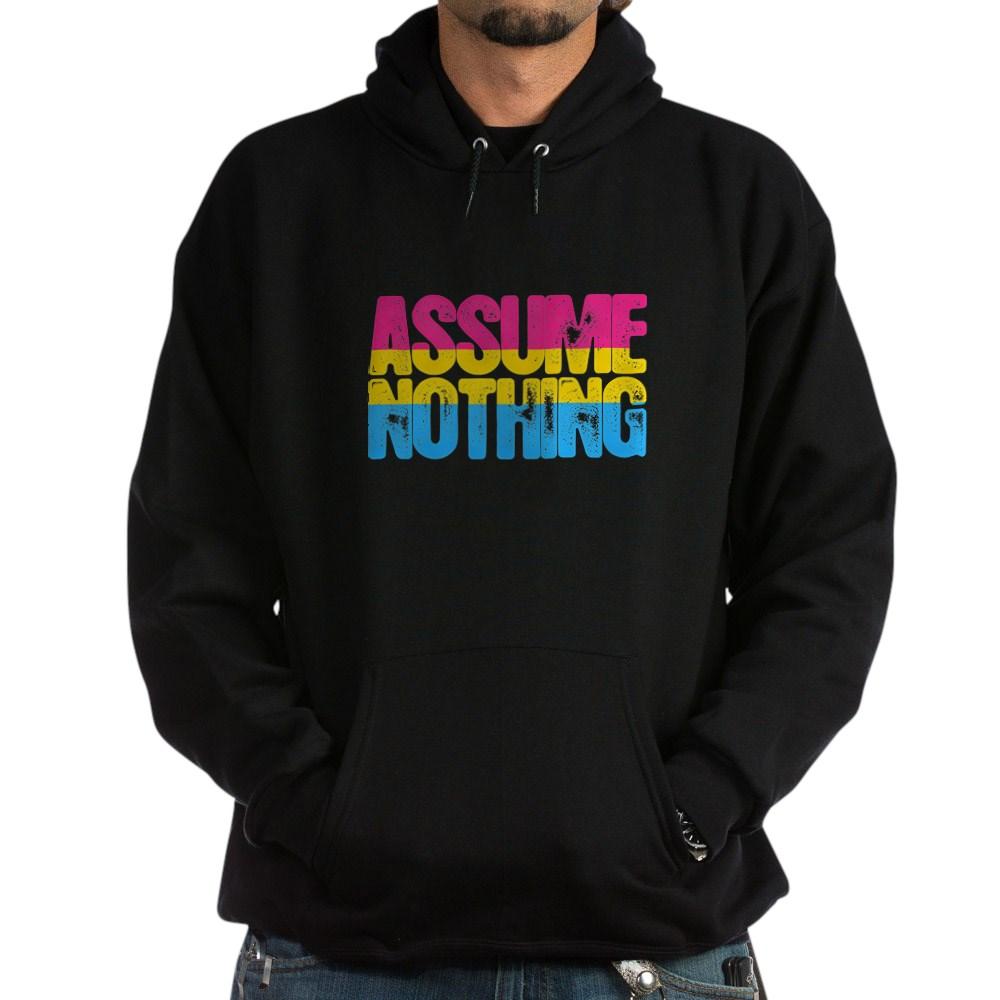 Assume Nothing Pansexual Pride Dark Hoodie