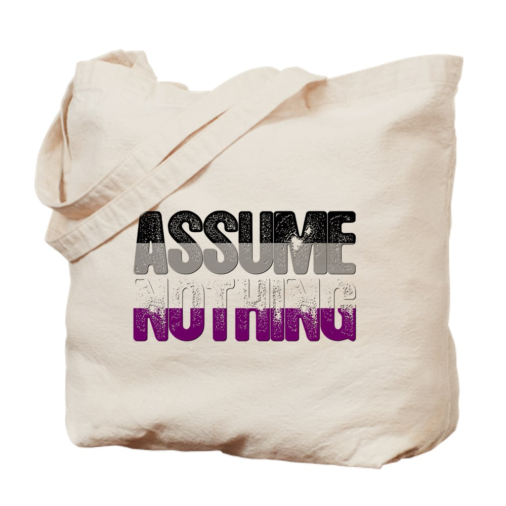 Assume Nothing Asexual Pride Tote Bag