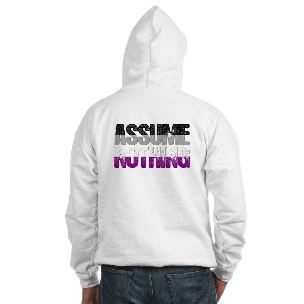 Assume Nothing Asexual Pride Hooded Sweatshirt