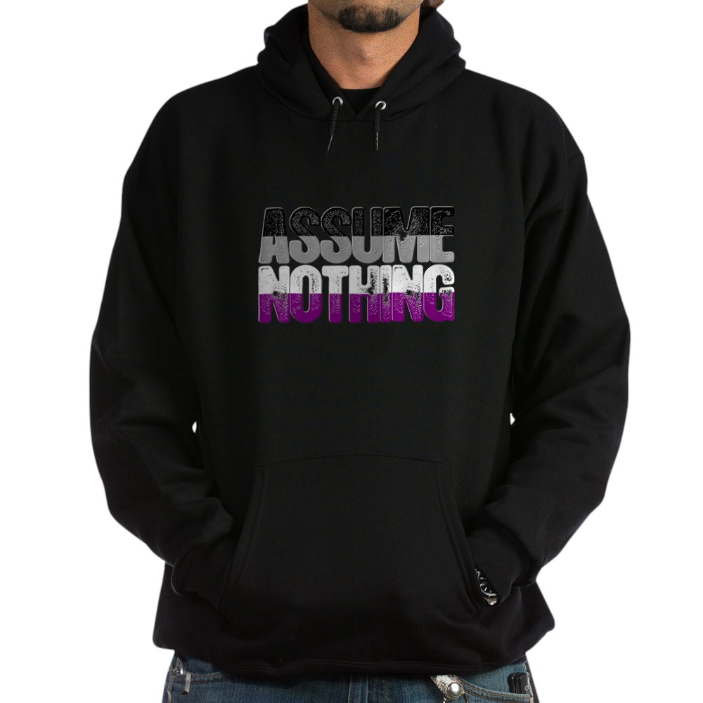 Assume Nothing Asexual Pride Dark Hoodie