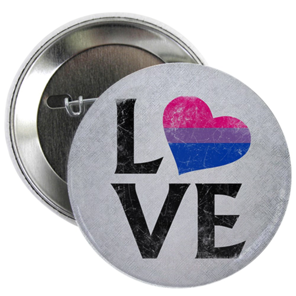 Bisexual Pride Flag Heart Stacked Love 2.25