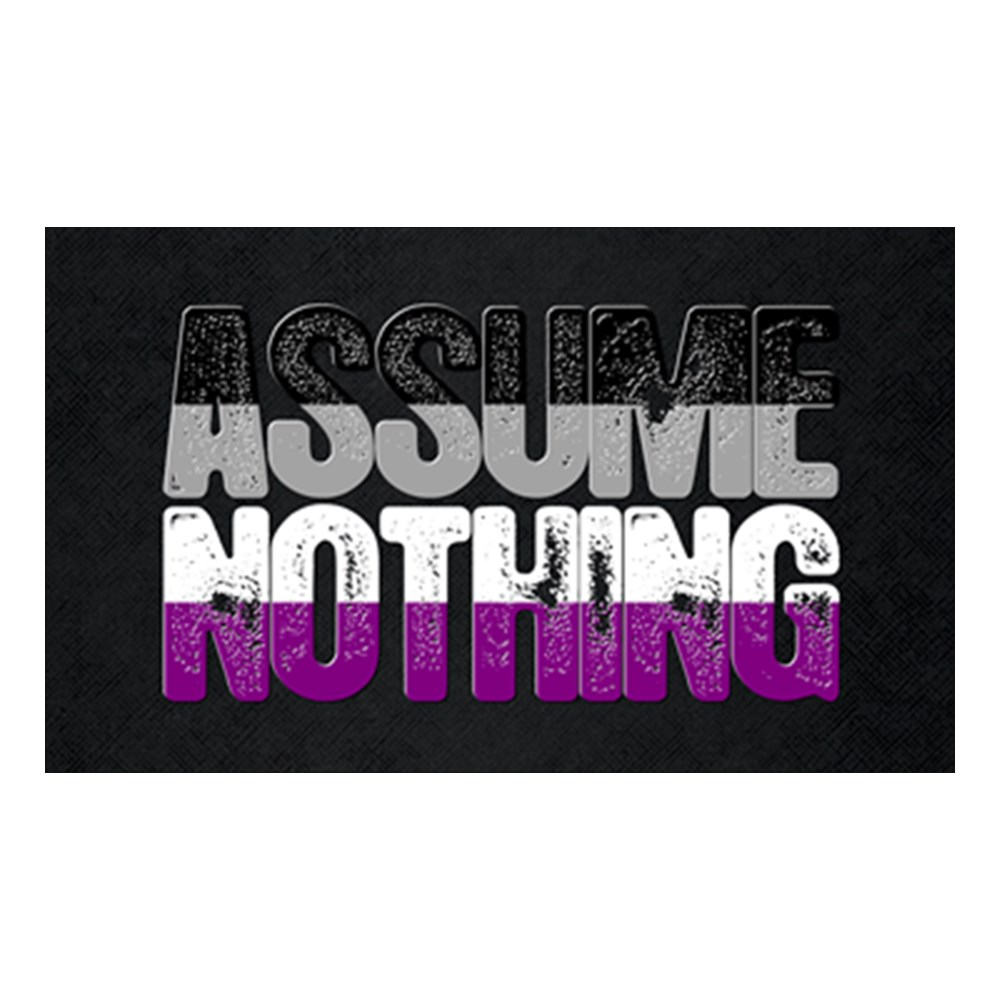 Assume Nothing Asexual Pride Rectangle Sticker