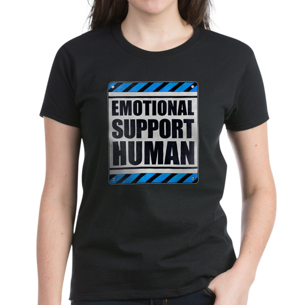 Emotional Support Human Women's Dark T-Shirt