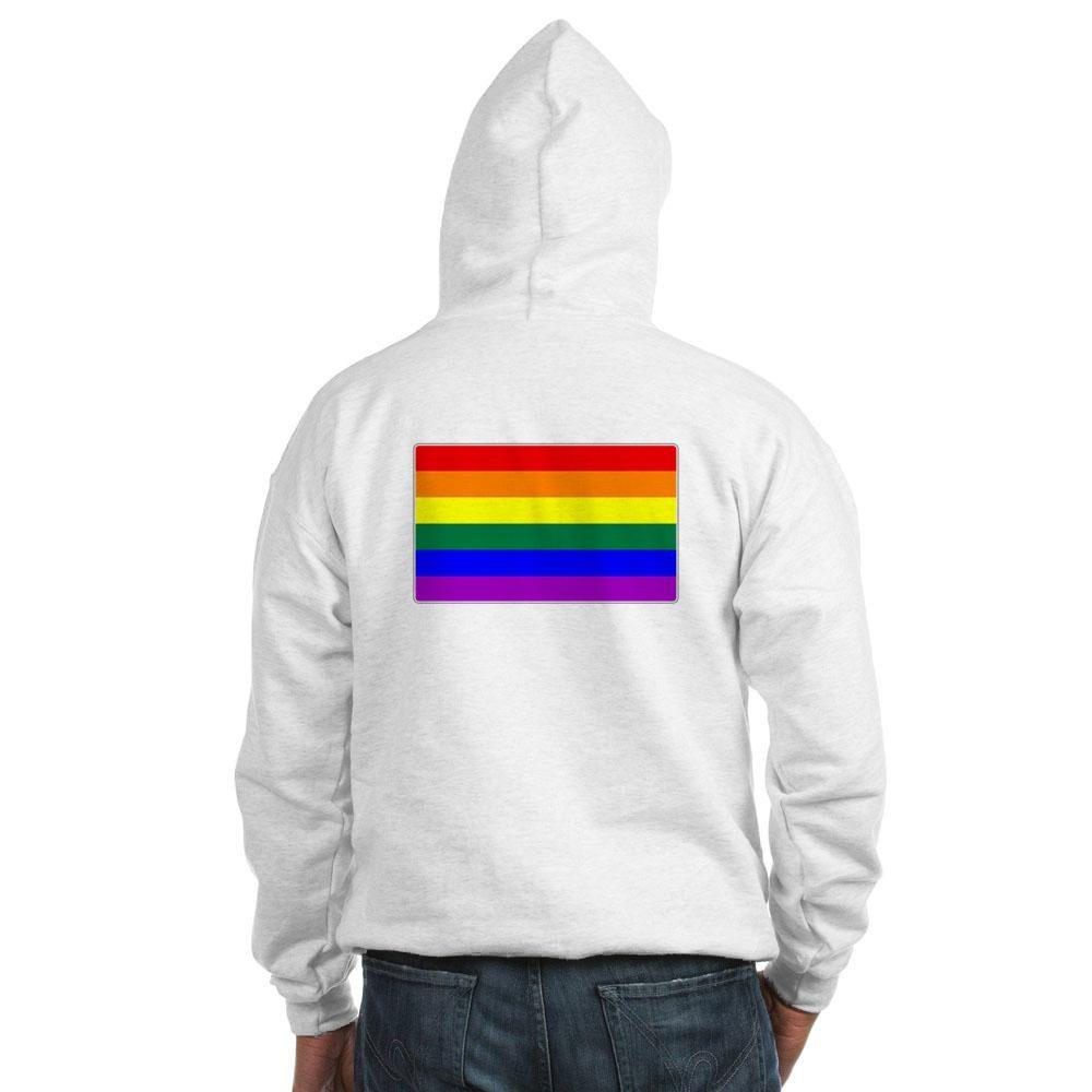 LGBTQ Rainbow Pride Flag Hooded Sweatshirt
