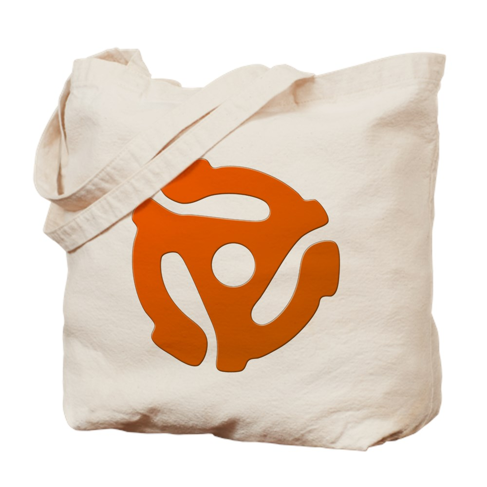 Orange 45 RPM Adapter Tote Bag