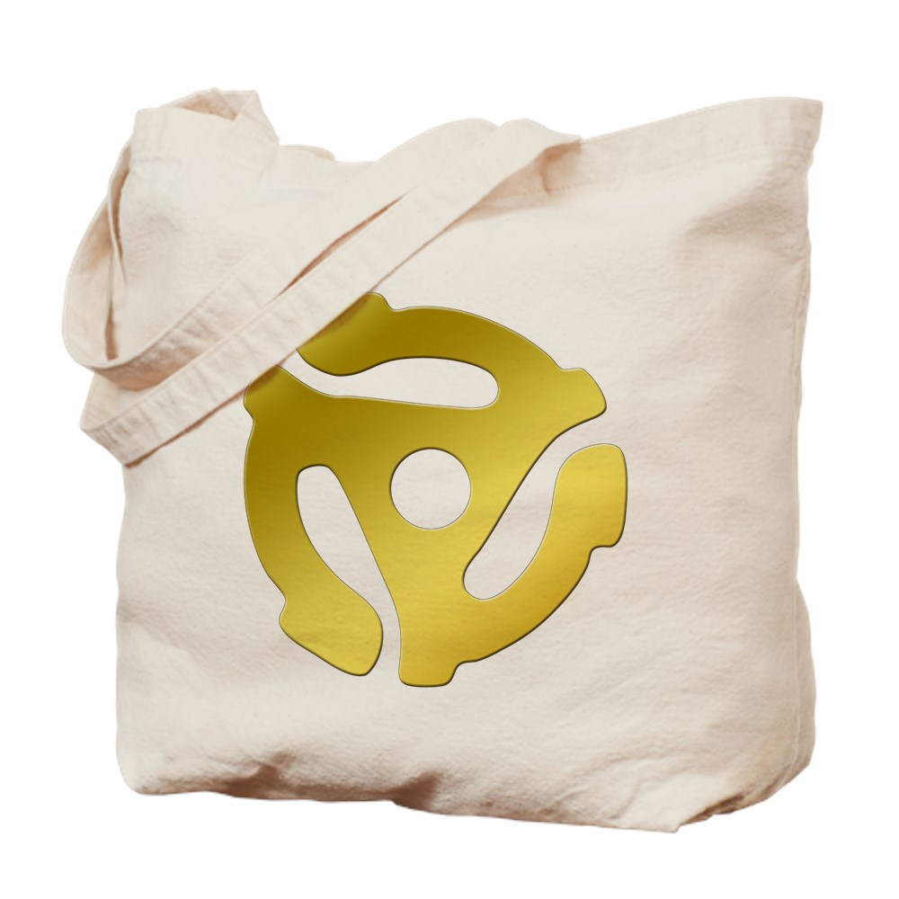 Gold 45 RPM Adapter Tote Bag