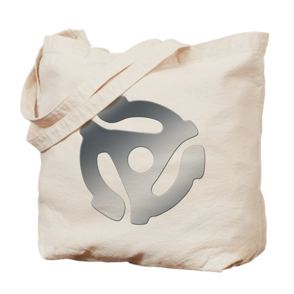 Silver 45 RPM Adapter Tote Bag