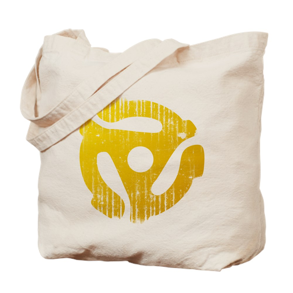 Distressed Yellow 45 RPM Adapter Tote Bag