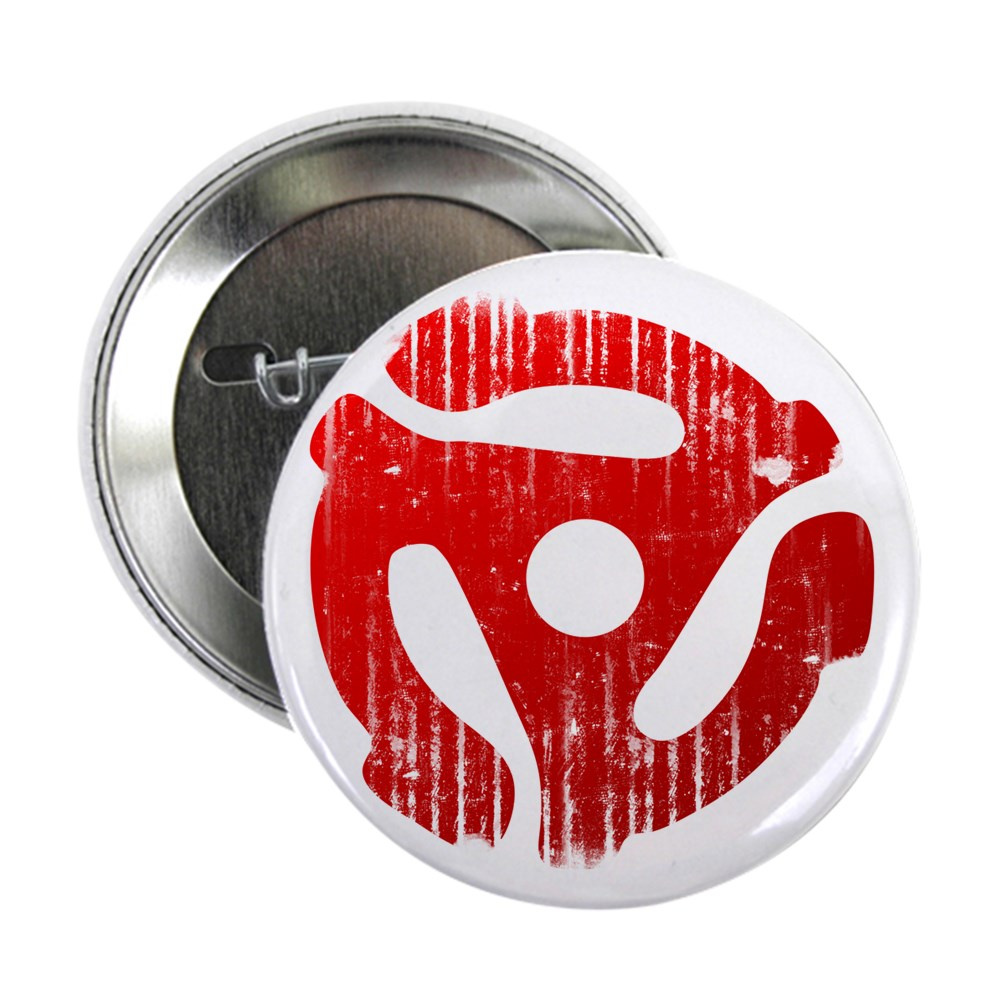 Distressed Red 45 RPM Adapter 2.25