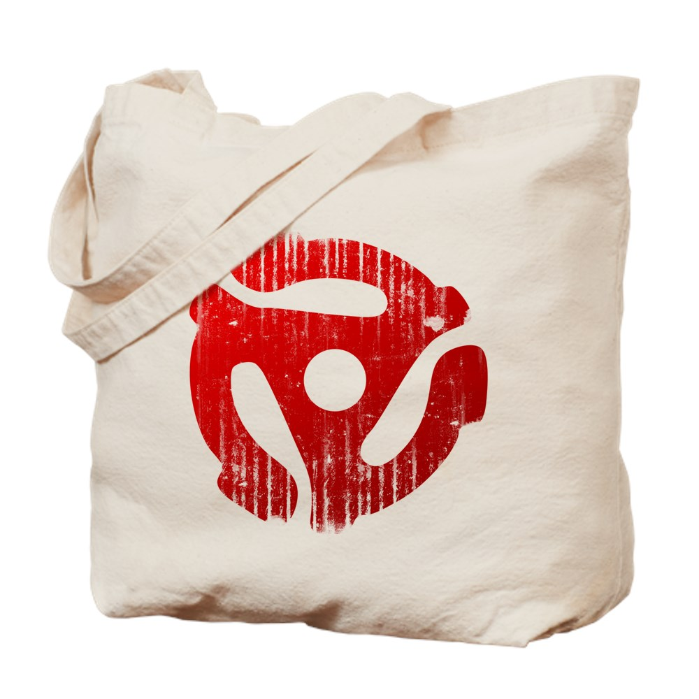 Distressed Red 45 RPM Adapter Tote Bag