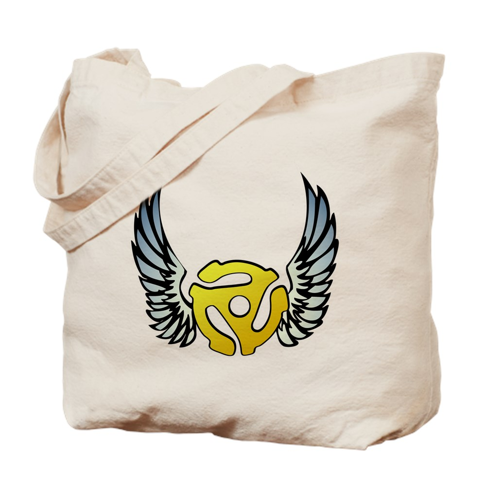 Blue Winged 45 RPM Adapter Tote Bag