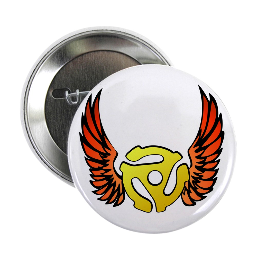 Red Winged 45 RPM Adapter 2.25