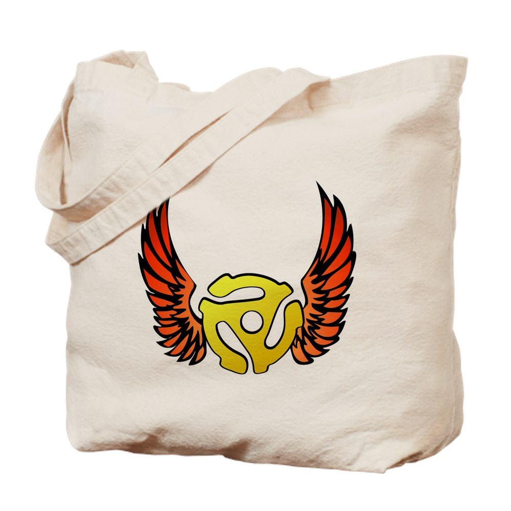 Red Winged 45 RPM Adapter Tote Bag