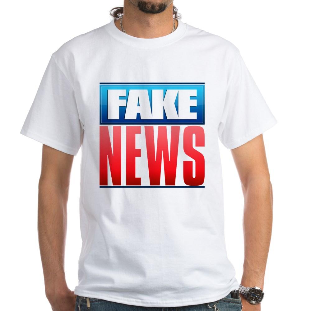 Fake News Network Logo White T-Shirt