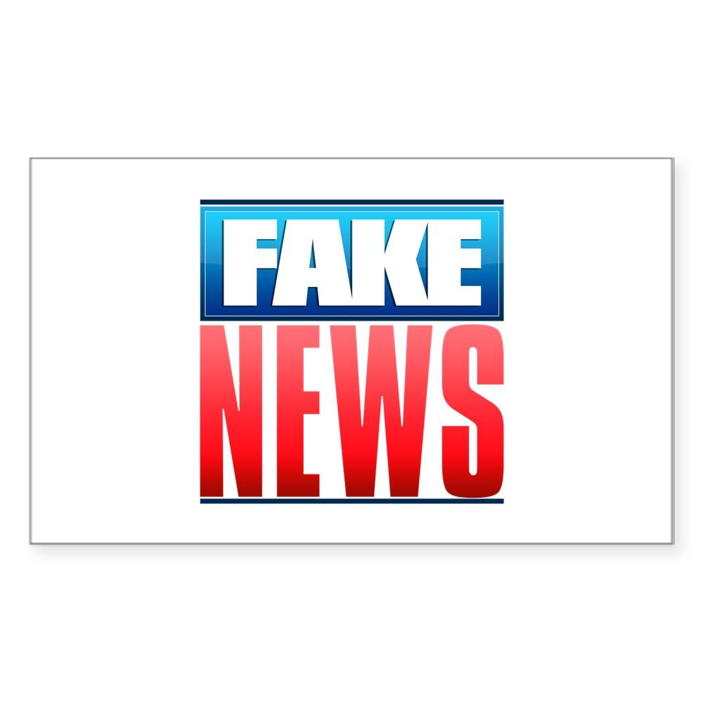 Fake News Network Logo Rectangle Sticker