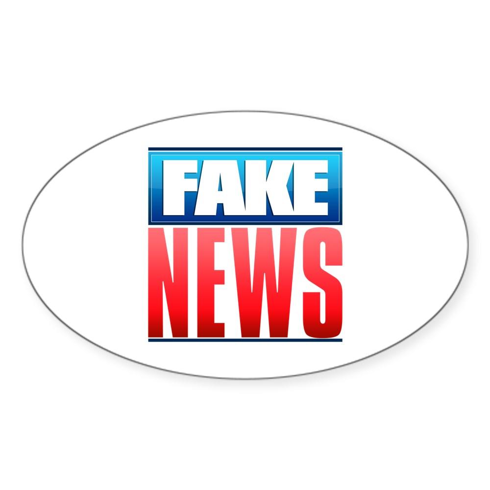 Fake News Network Logo Oval Sticker