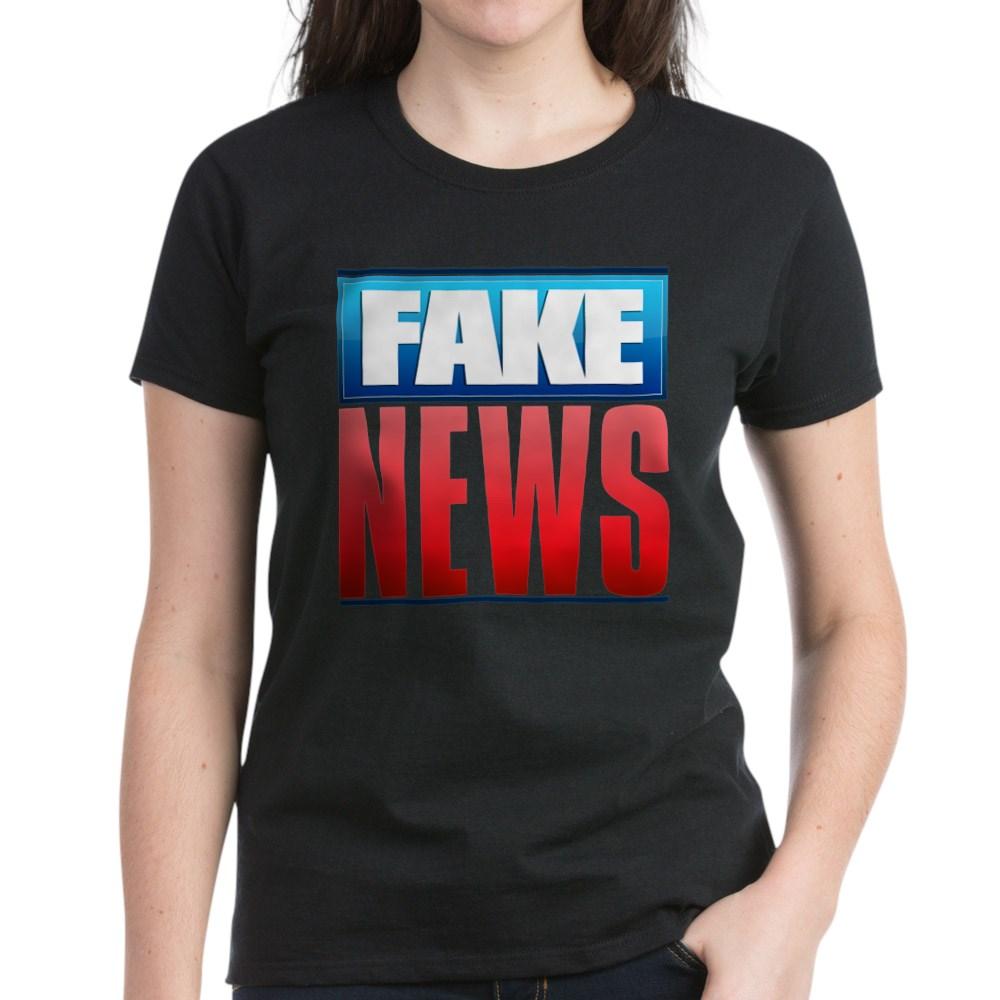 Fake News Network Logo Women's Dark T-Shirt
