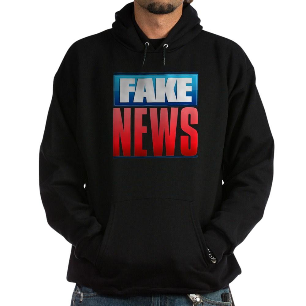 Fake News Network Logo Dark Hoodie