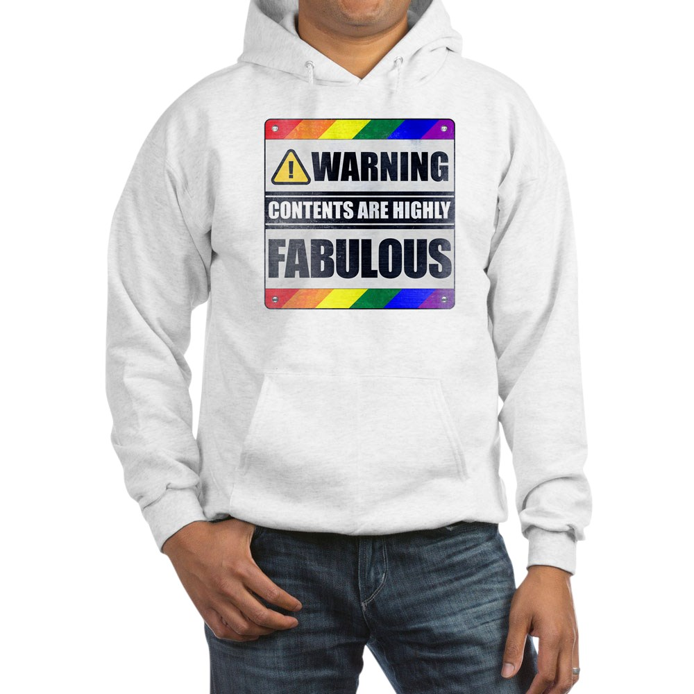 Warning Contents Are Highly Fabulous Gay Pride Hooded Sweatshirt