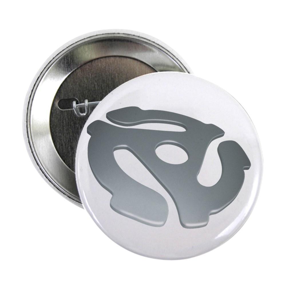 Silver 3D 45 RPM Adapter 2.25
