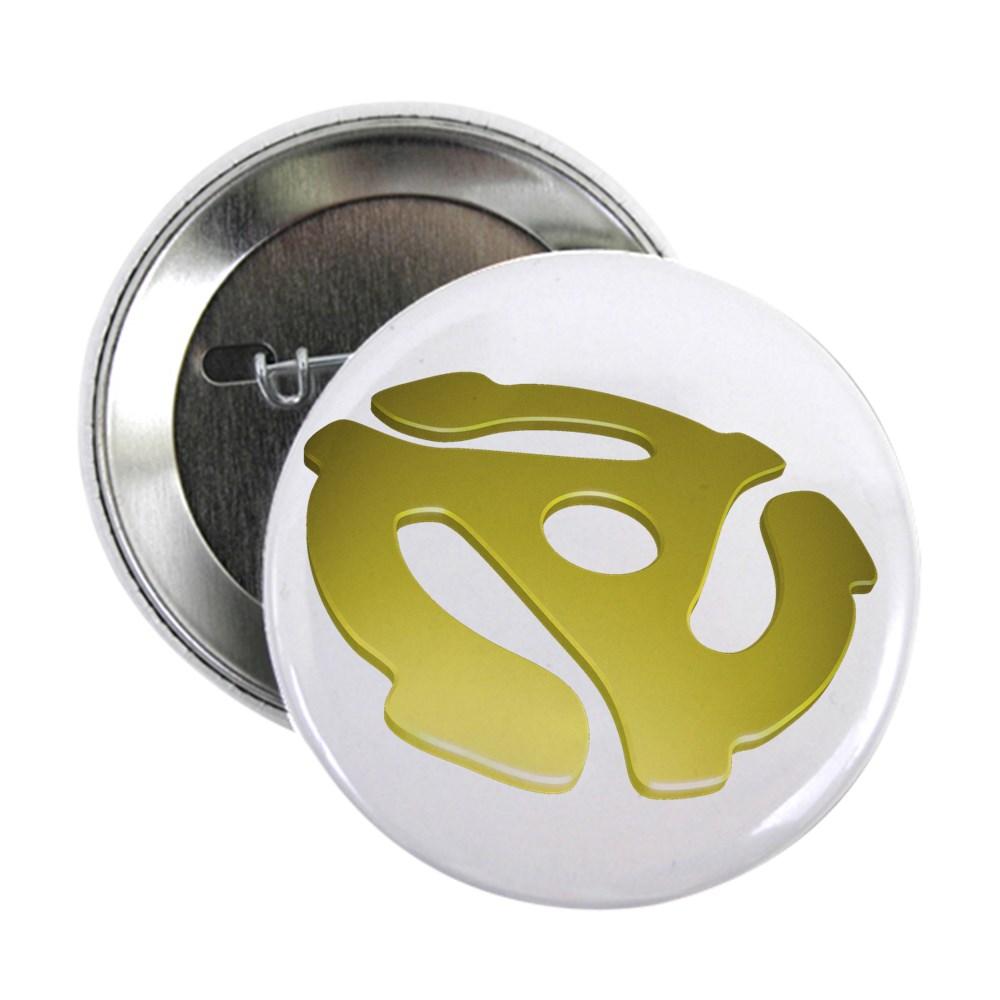 Gold 3D 45 RPM Adapter 2.25