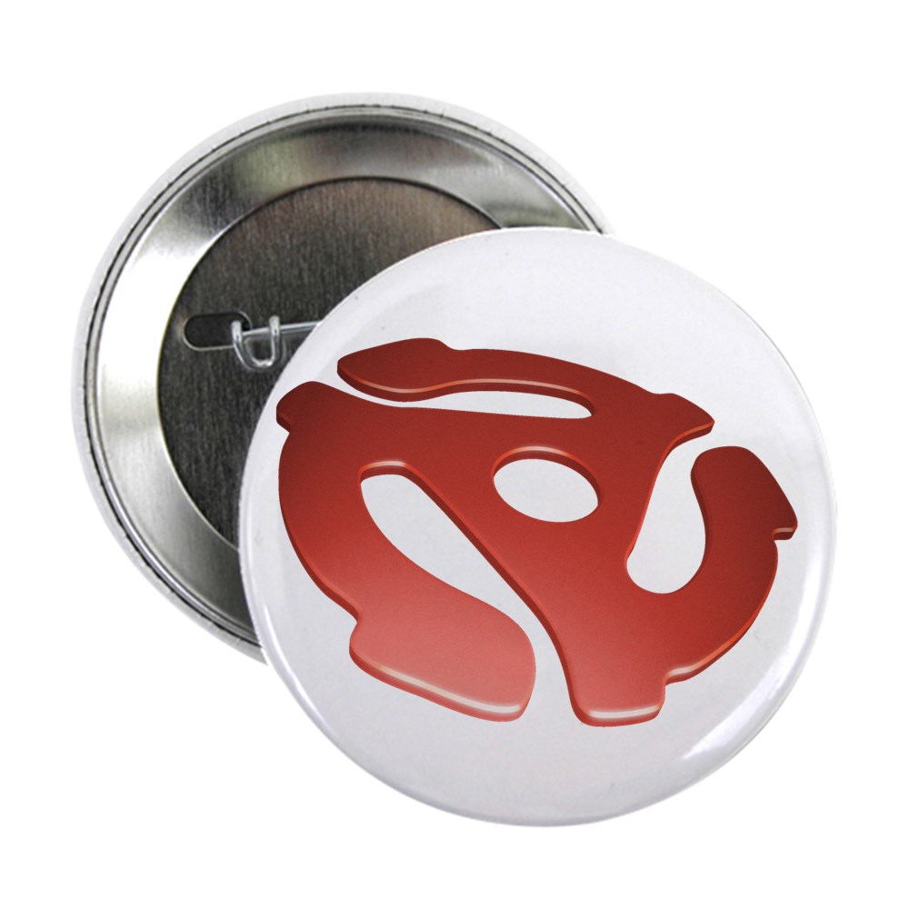 Red 3D 45 RPM Adapter 2.25