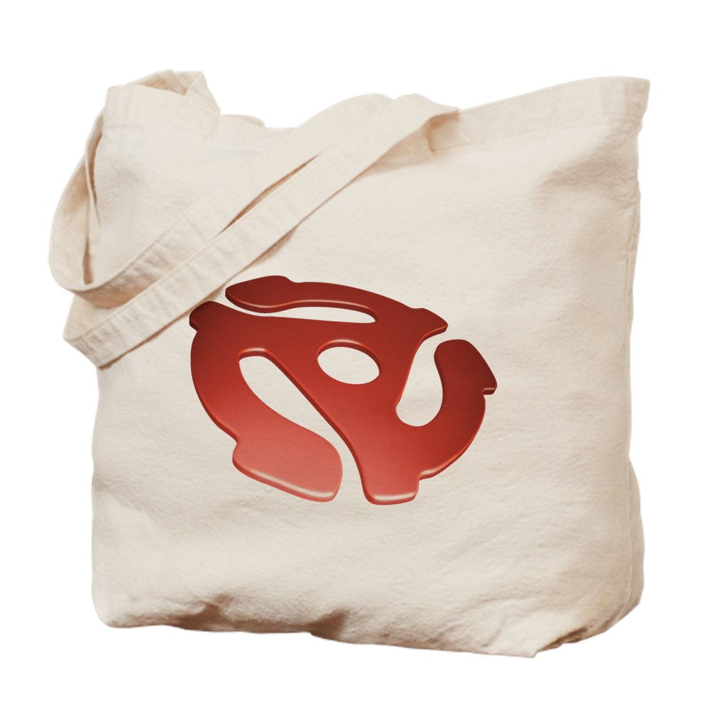 Red 3D 45 RPM Adapter Tote Bag