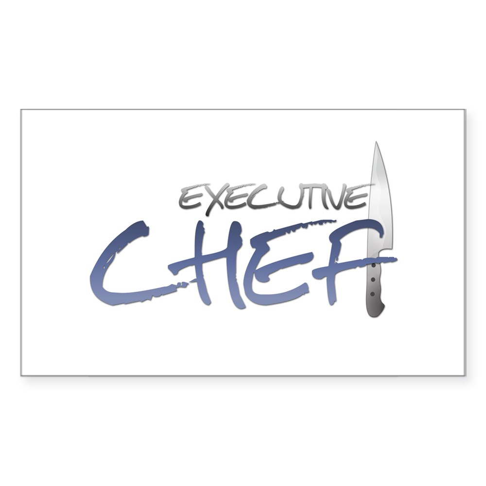 Blue Executive Chef Rectangle Sticker
