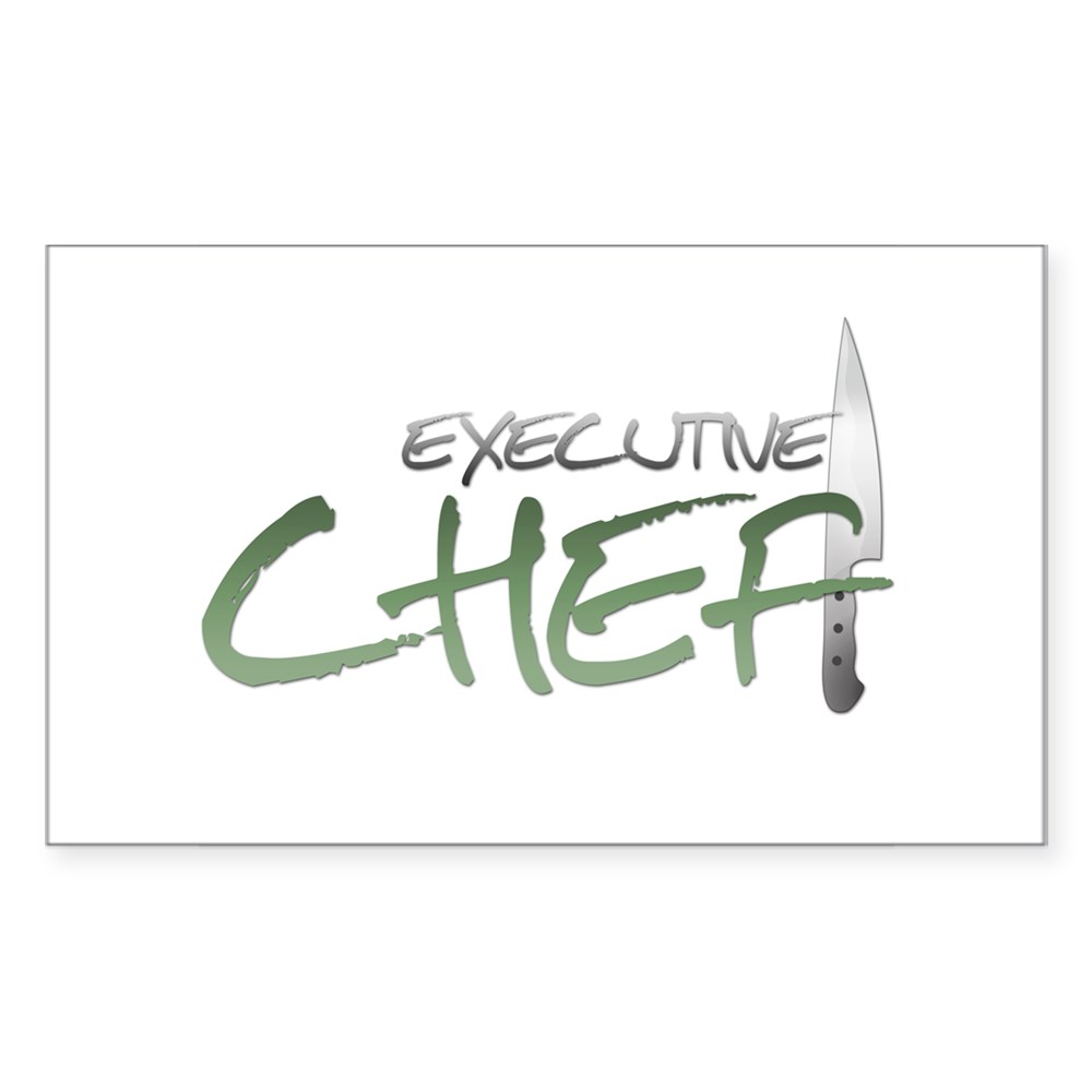 Green Executive Chef Rectangle Sticker