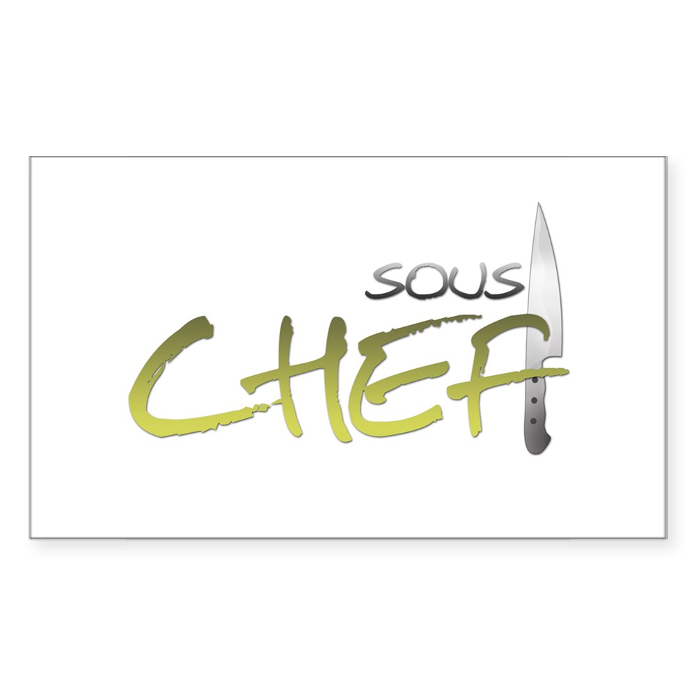 Yellow Sous Chef Rectangle Sticker