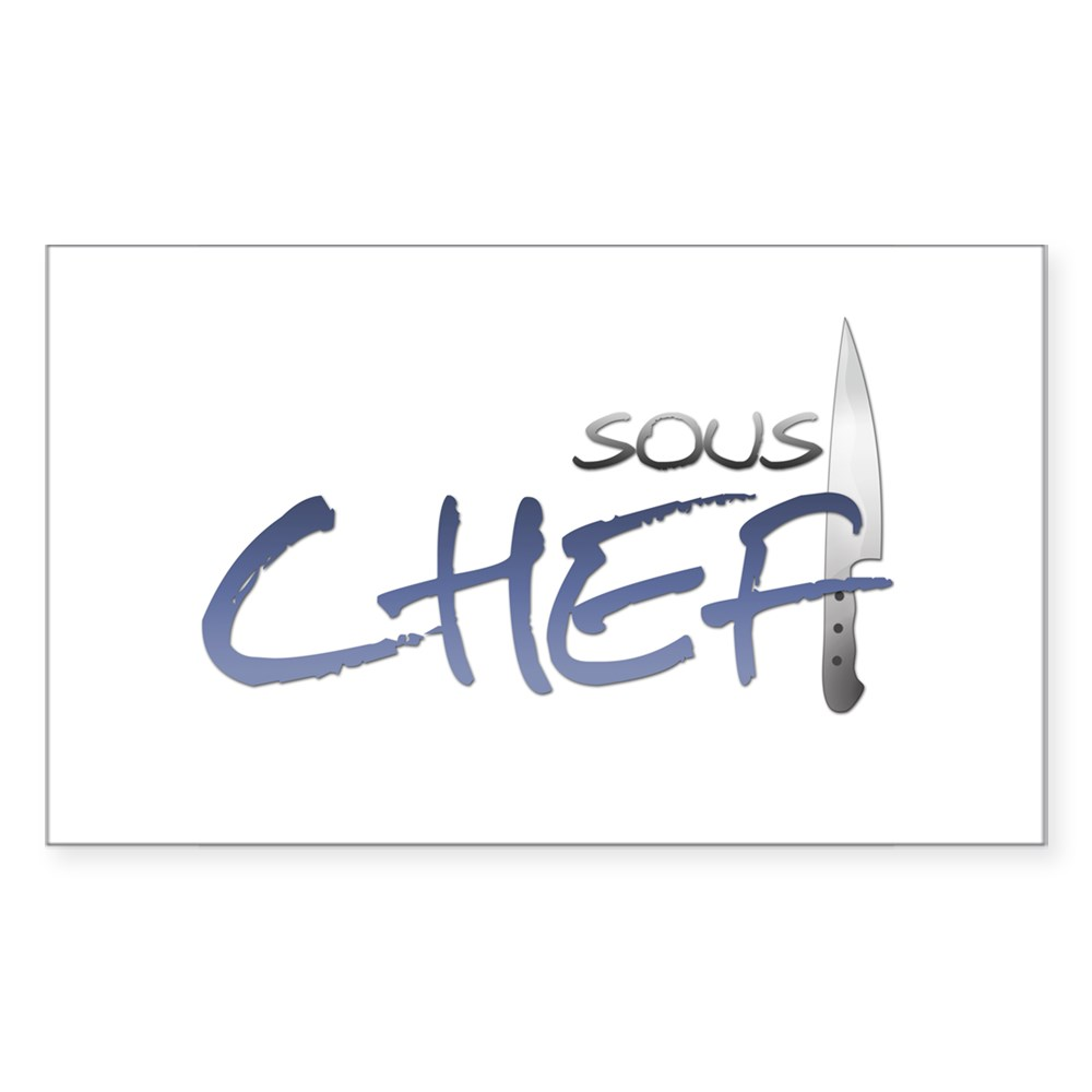 Blue Sous Chef Rectangle Sticker