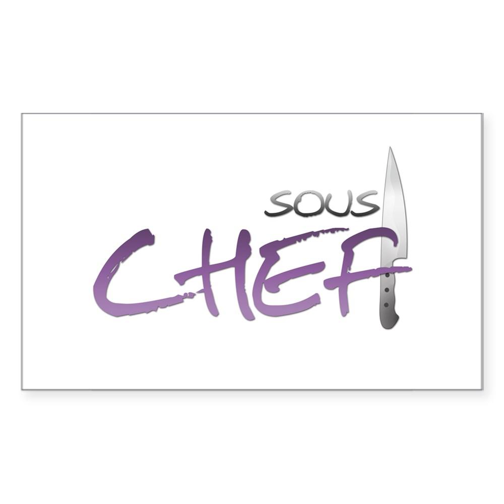 Purple Sous Chef Rectangle Sticker