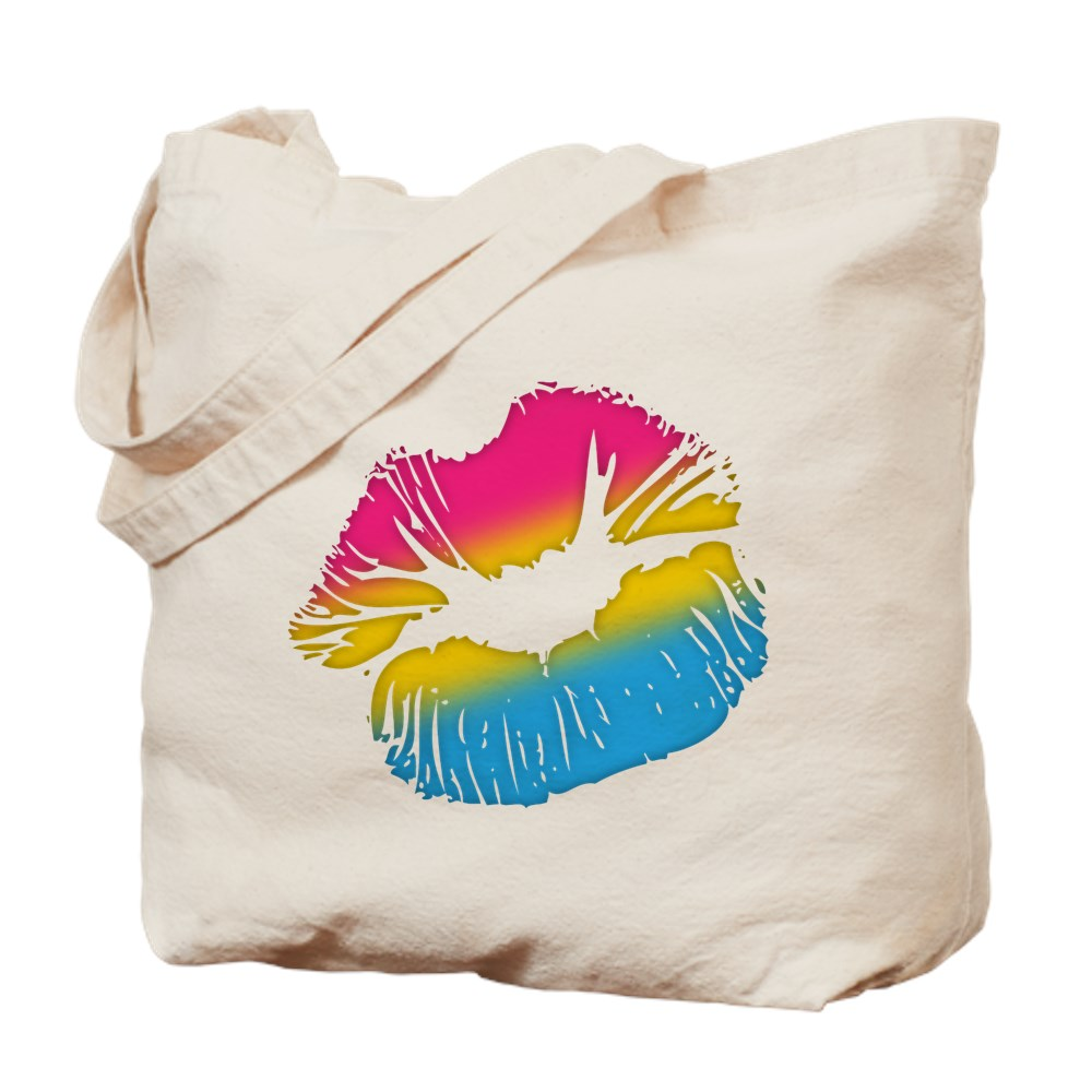 Pansexual Pride Big Kissing Lips Tote Bag