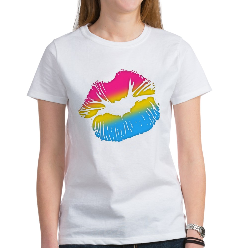 Pansexual Pride Big Kissing Lips Women's T-Shirt