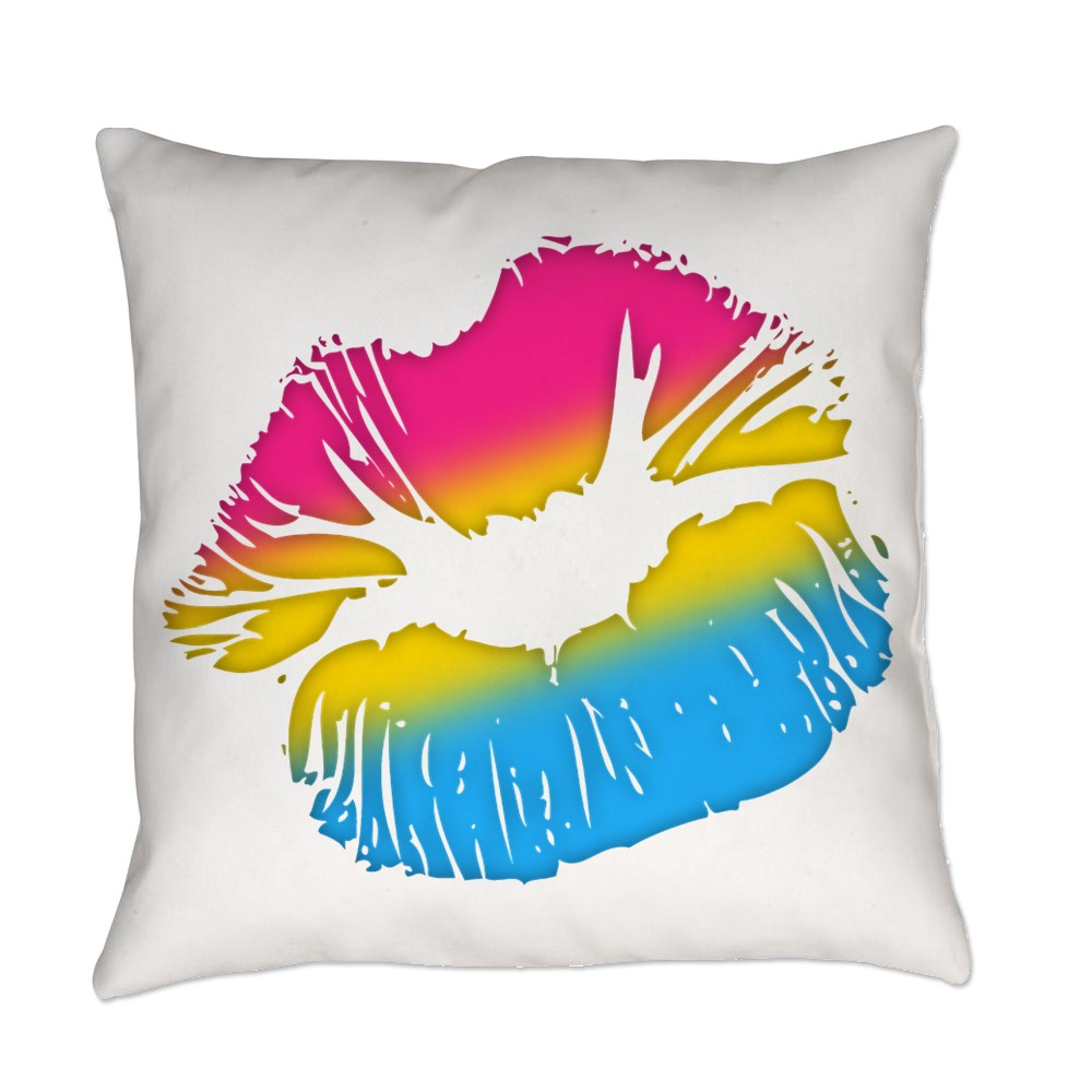 Pansexual Pride Big Kissing Lips Everyday Pillow