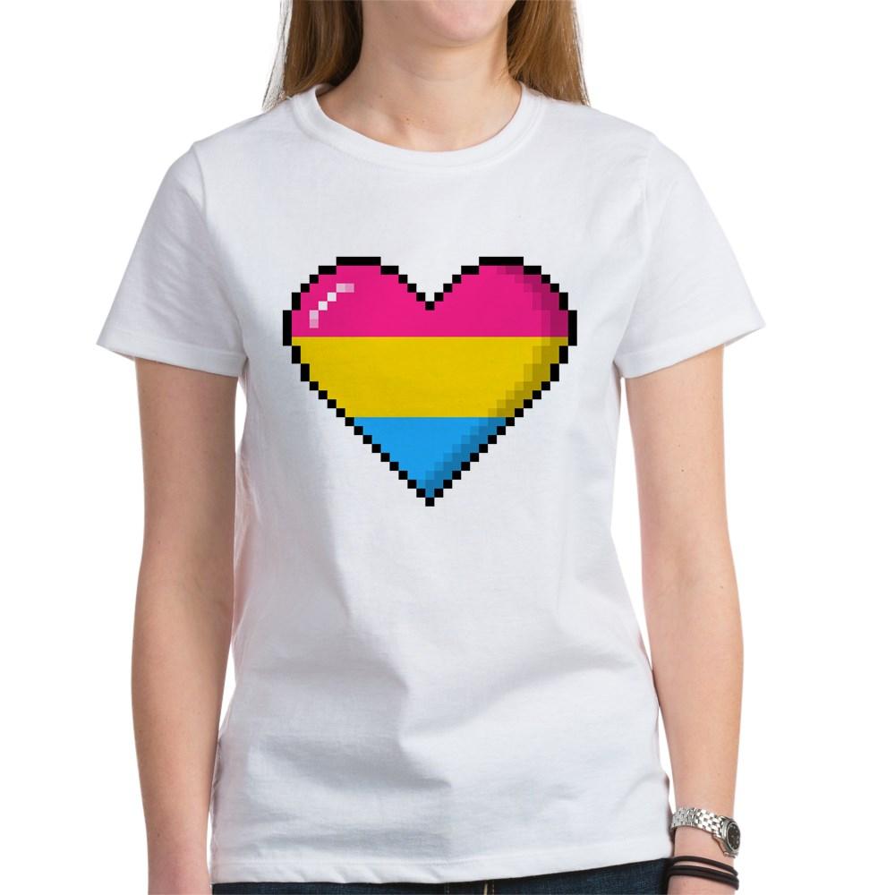 Pansexual Pride 8-Bit Pixel Heart Women's T-Shirt