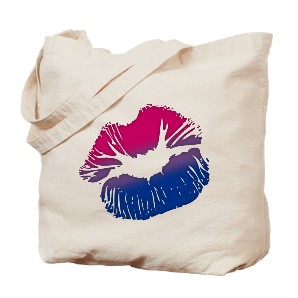 Bisexual Pride Big Kissing Lips Tote Bag