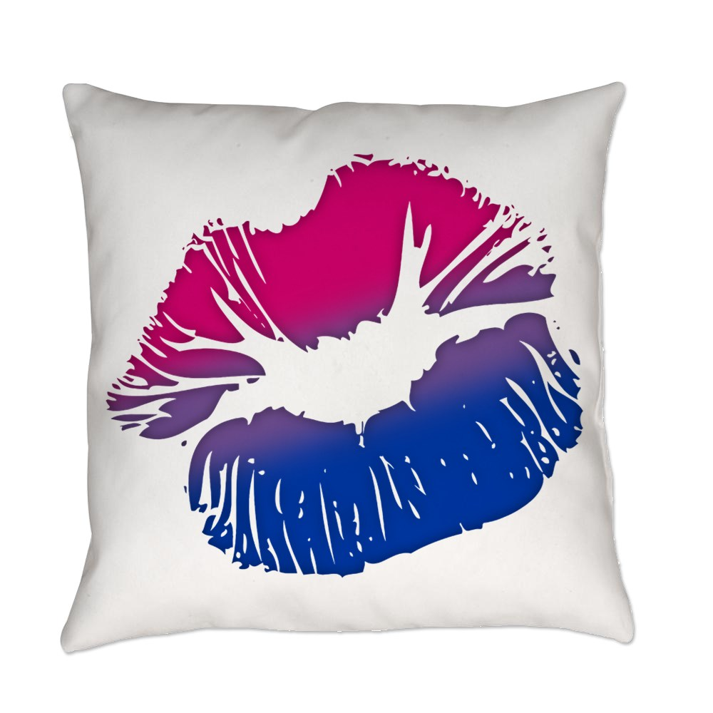 Bisexual Pride Big Kissing Lips Everyday Pillow