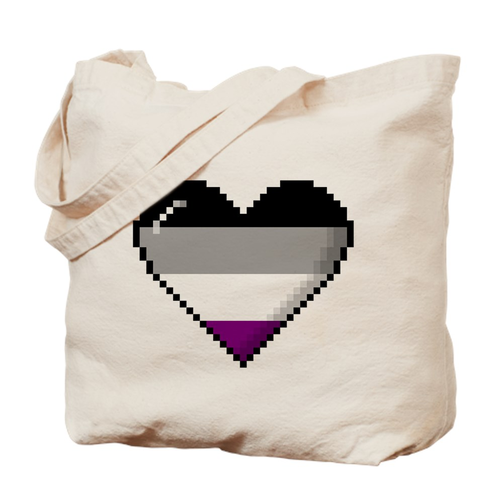 Asexual Pride 8-Bit Pixel Heart Tote Bag
