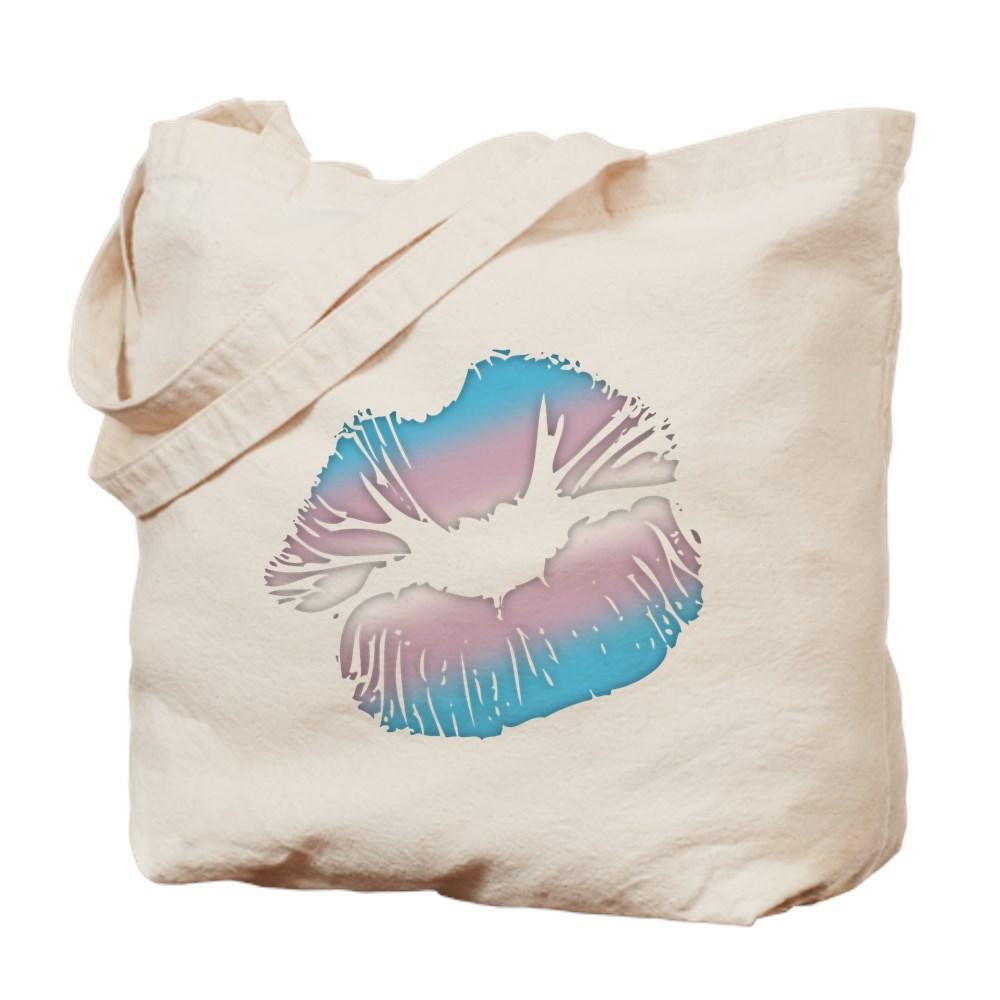 Transgender Pride Big Kissing Lips Tote Bag
