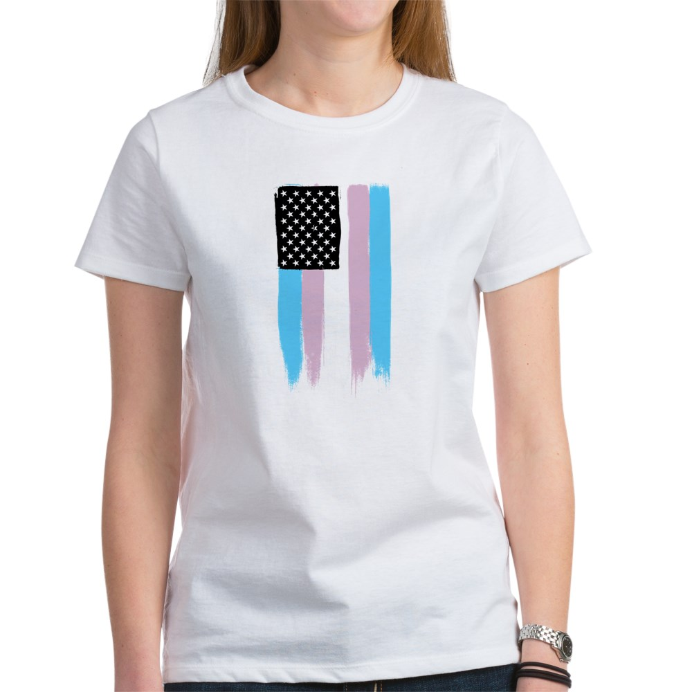 Transgender Pride Stars and Stripes Flag Women's T-Shirt