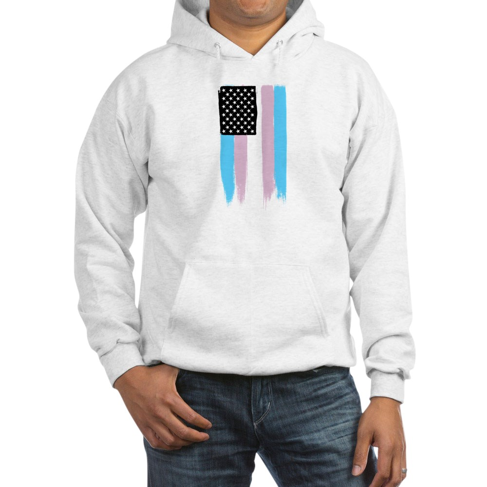 Transgender Pride Stars and Stripes Flag Hooded Sweatshirt